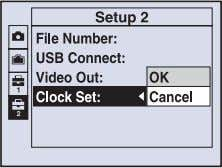 select (Setup) in step 3 and then press B . Select the item to set with