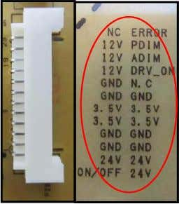 GND GND 24V GND ON/OFF 24V 24V <LK Series> <LW Series> Screen (LK, LW) Check the