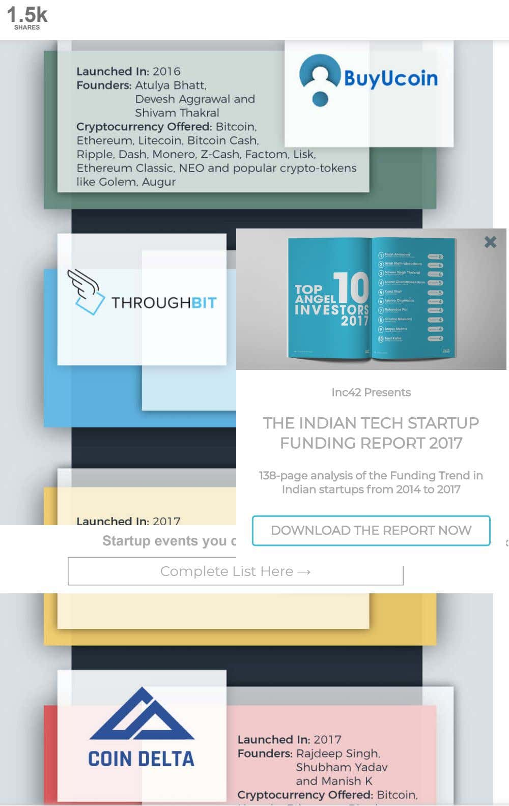 1.5k SHARES × Inc42 Presents THE INDIAN TECH STARTUP FUNDING REPORT 2017 138-page analysis of