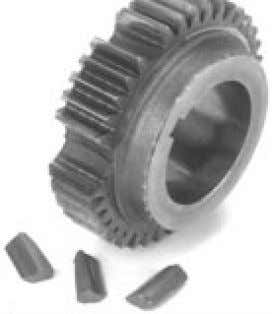 mine when contamination levels require bearing replacement. Re-use lube and bearings when damage to gearing appears