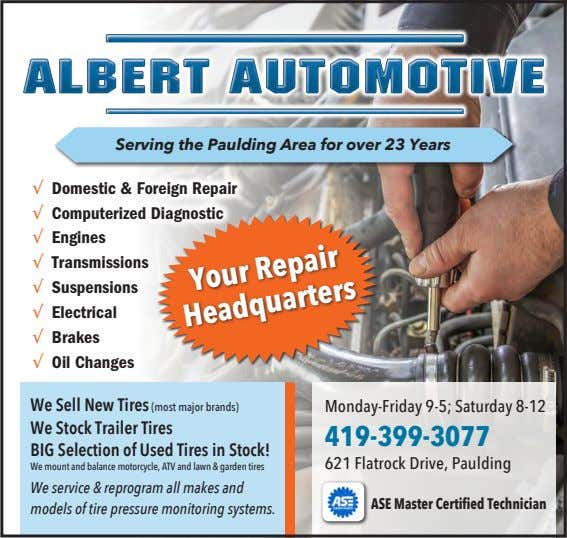 Serving the Paulding Area for over 23 Years √ Domestic & Foreign Repair √ Computerized