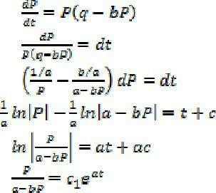 of variables (Zill, 2001) is used to solve (4). Thus From the preceding equation it follows
