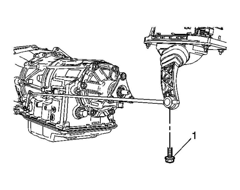 the vehicle. Refer to Lifting and Jacking the Vehicle . Fig. 2: Shift Control Linkage Rod