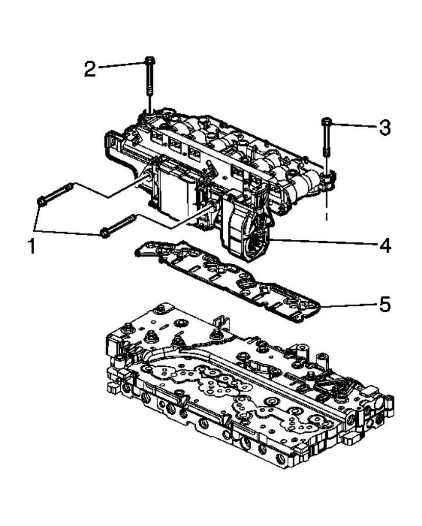 Automatic Transmission - 6L45/6L50/6L80/6L90 - Camaro Fig. 48: View Of Control Valve Body Assembly Courtesy of
