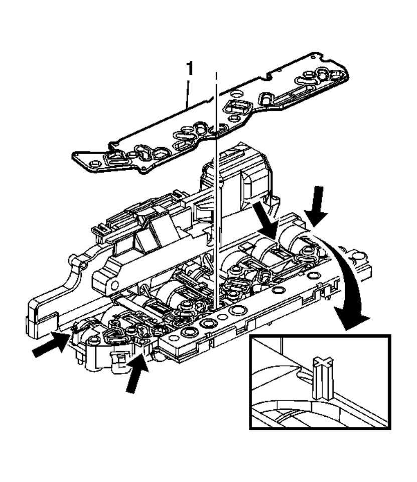 th e filter plate assembly (5). Installation Procedure Fig. 51: View Of Filter Plate Assembly Courtesy