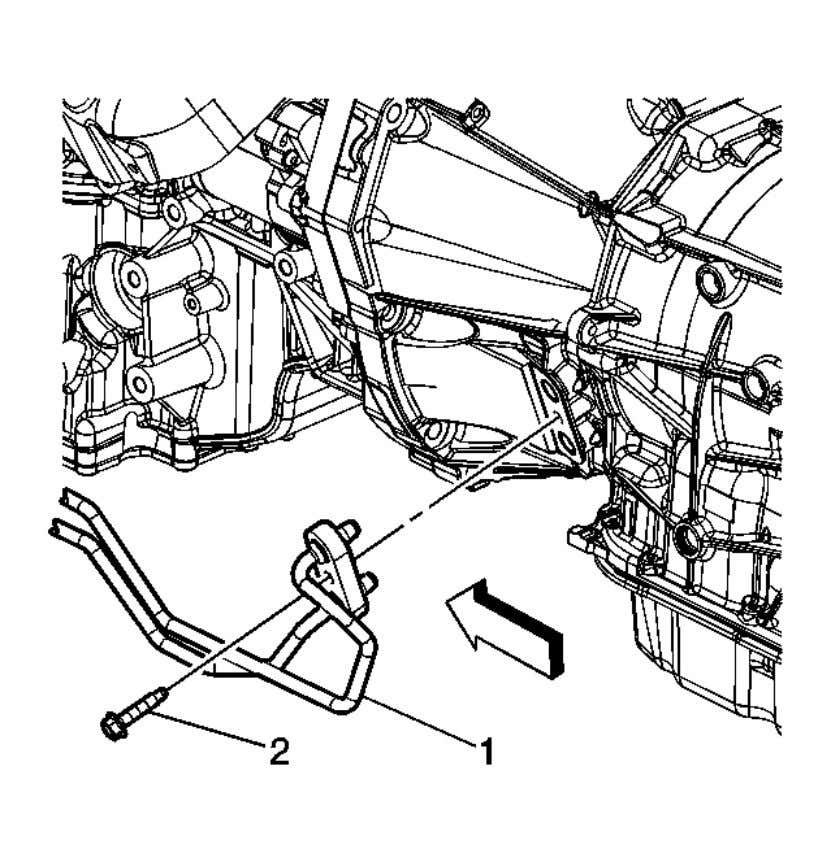 Automatic Transmission - 6L45/6L50/6L80/6L90 - Camaro Fig. 66: View of Transmi ssion Fluid Cooler Pipes Courtesy