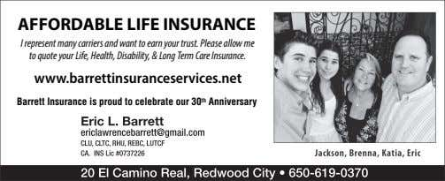 AFFORDABLE LIFE INSURANCE I represent many carriers and want to earn your trust. Please allow