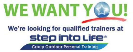 Become a Trainer   Get qualified   Step into Life has a fantastic opportunity for you