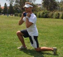 Push Up using medicine ball Lunge with twist Most healthy athletes will use compound exercises for
