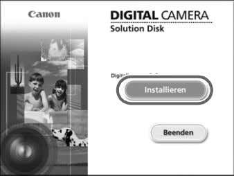 enthaltene CD-ROM (DIGITAL CAMERA Solution Disk) (S. 2) in das CD-ROM-Laufwerk des Computers ein. Starten