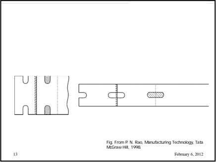 Fig. From P. N. Rao, Manufacturing Technology, Tata McGraw Hill, 1998. 13 February 6, 2012