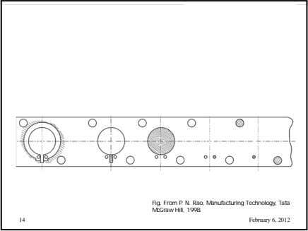 Fig. From P. N. Rao, Manufacturing Technology, Tata McGraw Hill, 1998. 14 February 6, 2012