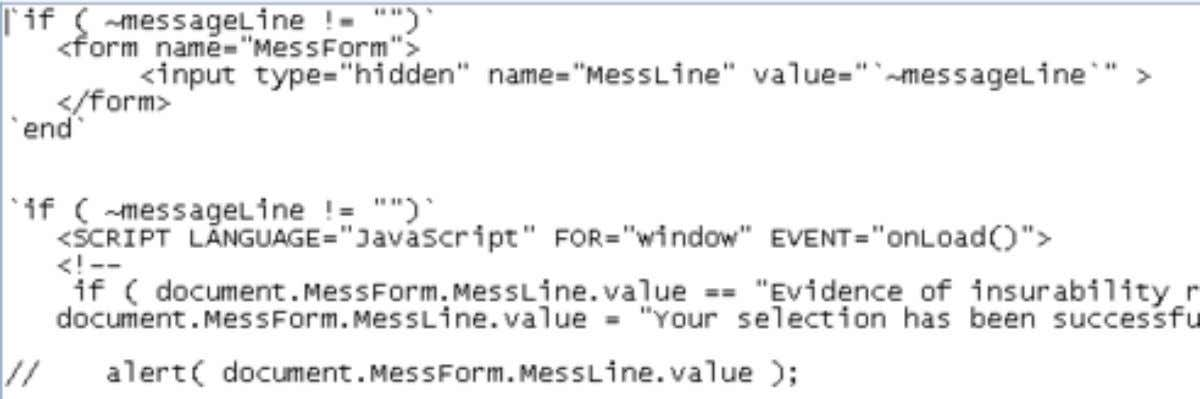 via Template • Code like this can modify SAP messages Note You can avoid most messages