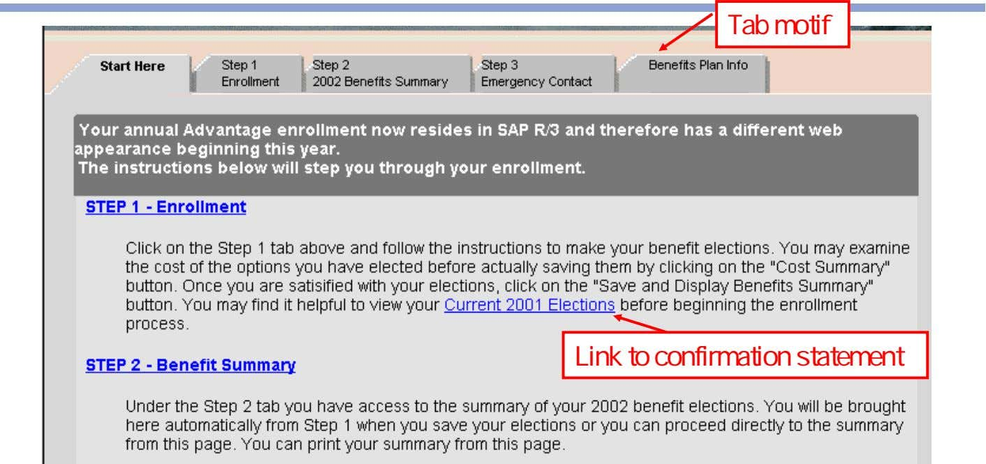 Tab motif Link to confirmation statement