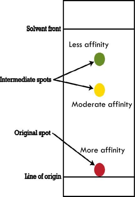 Less affinity Moderate affinity More affinity