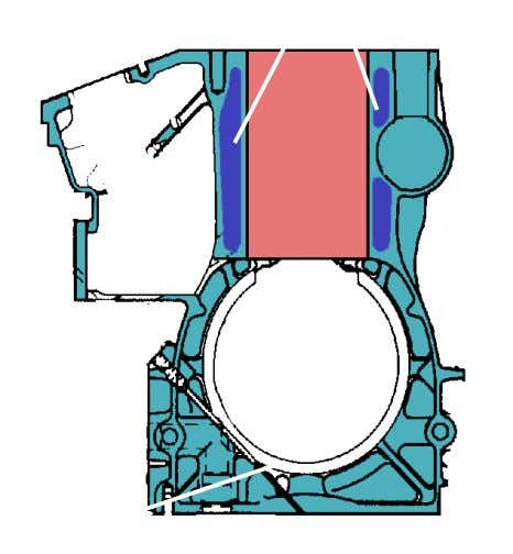 """Tunnel"" type Crankcase Water Jacket Cylinder Liner Main Journal"