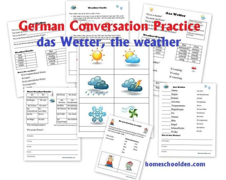 words with this packet: German Conversation Practice Set – the weather, months, days of the week,
