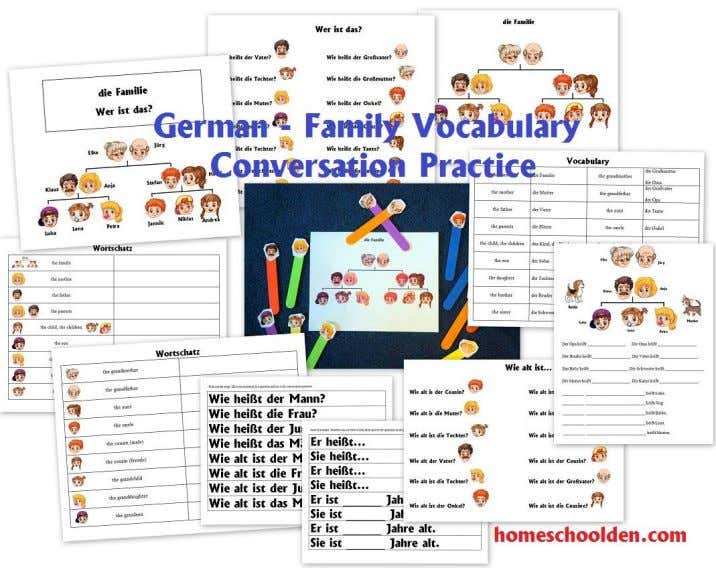 this family set: German Conversation Packet: die Familie Talk about the weather and learn weather-related words