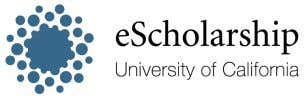 at http://www.escholarship.org/help_copyright.html#reuse eScholarship provides open access, scholarly publishing