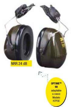 NRR 24 dB OPTIME TM 98 adaptable a casco Modelo H7P3E
