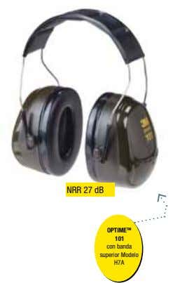 NRR 27 dB OPTIME TM 101 con banda superior Modelo H7A
