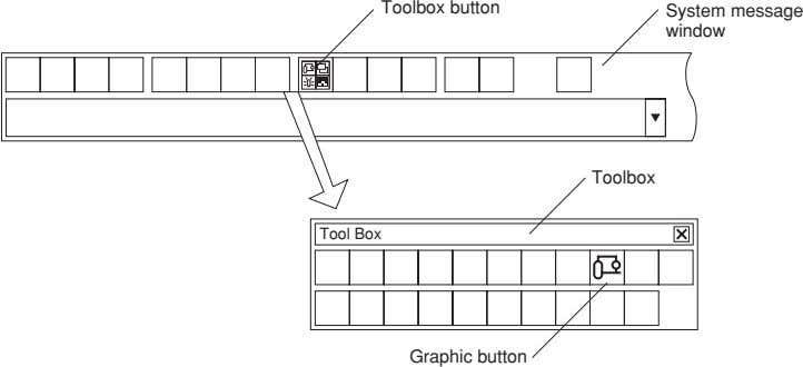 Toolbox button System message window Toolbox Tool Box Graphic button