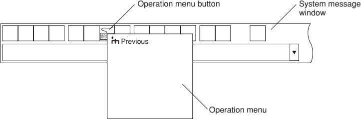 Operation menu button System message window Previous Operation menu