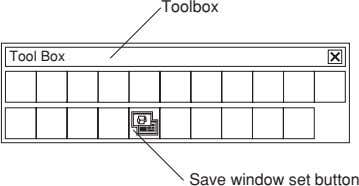 Toolbox Tool Box Save window set button