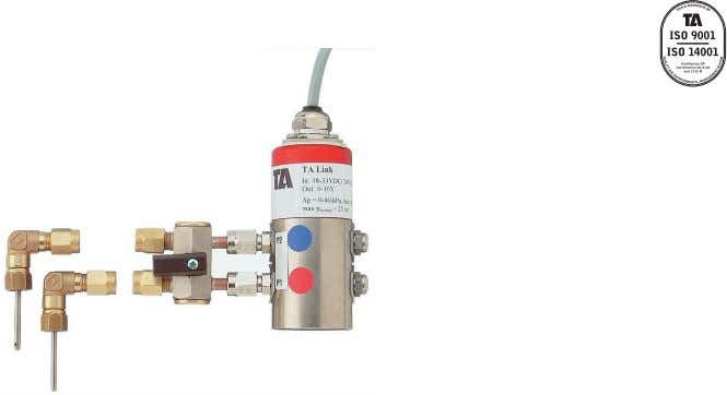 (0-10 V) Differential pressure sensor 7-10-5 2004.10 Technical description TA Link is the link between the