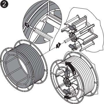 basket-type spool on the adapter provided in such a way that the bars on the spool