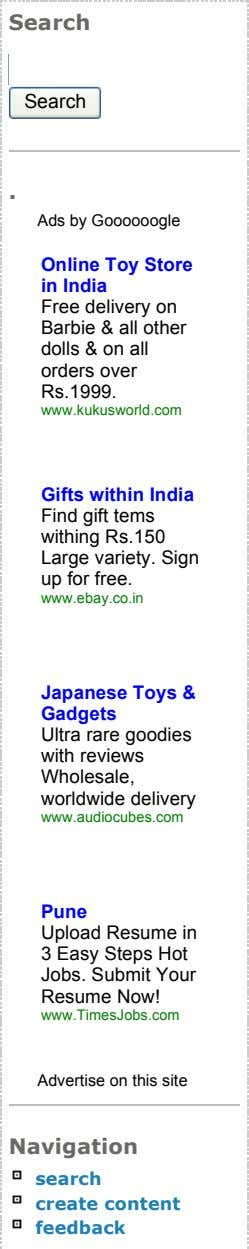 Search Search . Ads by Goooooogle Online Toy Store in India Free delivery on Barbie