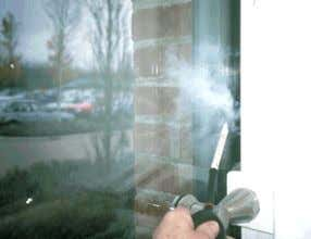 visible! Source: HRS Services Ltd. www.air- tightness.co.uk A smoke tracer allows for a view of the
