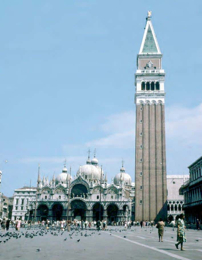 San Marco with its Campanella (Venice) found its final shape in a 200 year of gentrification