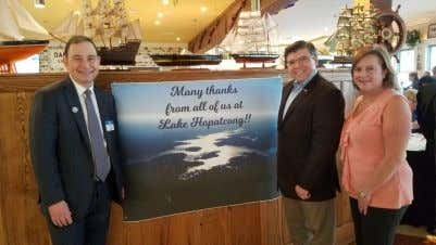 Lake Hopatcong Fund: Preserving New Jersey's Largest Lake Above: Asm. Bucco at an event celebrating the