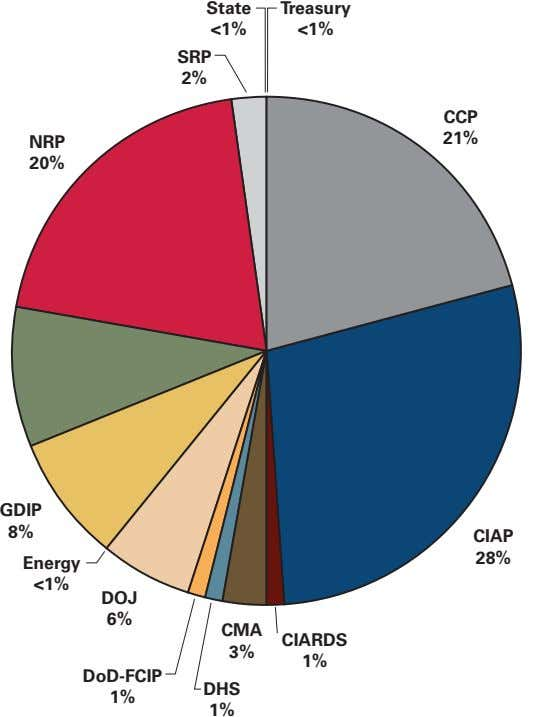 State Treasury <1% <1% SRP 2% CCP 21% NRP 20% GDIP 8% CIAP 28% Energy