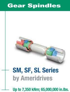 Gear Spindles SM, SF, SL Series by Ameridrives Up to 7,350 kNm; 65,000,000 in.lbs.