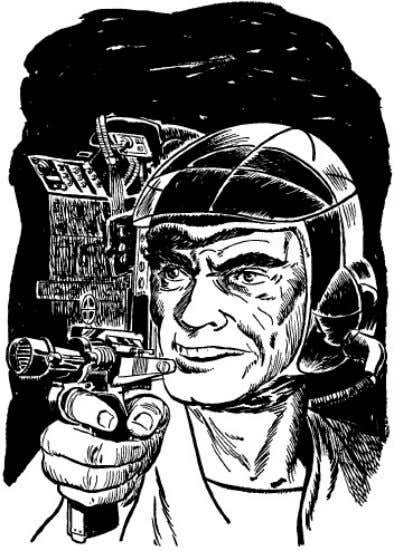Gutenberg eBook of The Space Pioneers, by Carey Rockwell. Bush pulled a paralo-ray gun from his