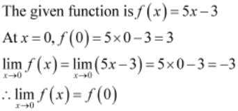 Prove that the function Answer Exercise 5.1 is continuous at Therefore, f is continuous at x