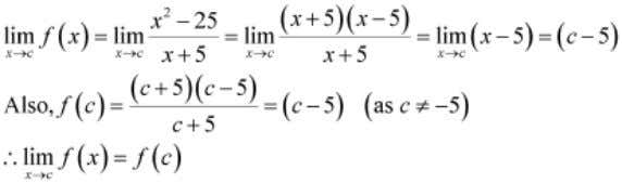 XII Chapter 5 – Continuity and Differentiability Maths Hence, f is continuous at every point in