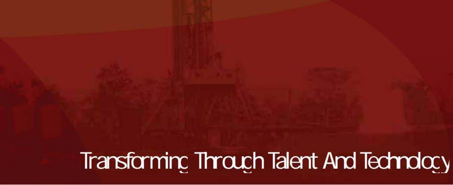 Trransforming Through Talent And Technology Transforming Through Talent And Technology