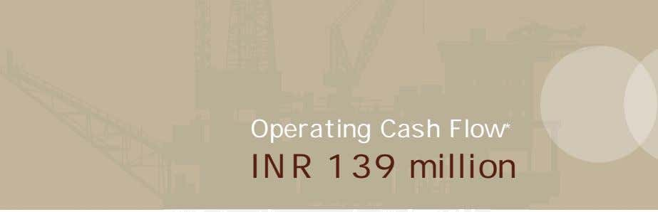 Operating Cash Flow * INR 139 million