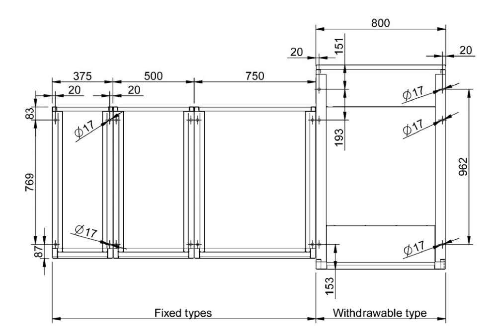3.3 Dimensions 3.3.1 Fixing dimensions Figure 3.1 Fixing dimensions. ABB 10 Uniswitch Installation Manual U N