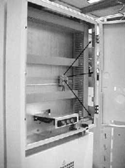 Nm. 3.5.2 Connecting cubicles in the secondary compartment Figure 3.15 Holes in the secondary compartment. ABB