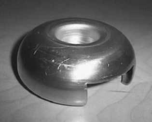 and EPDM-rubber part) according to the following figures. Figure 3.22 Aluminum cap with one cutout for