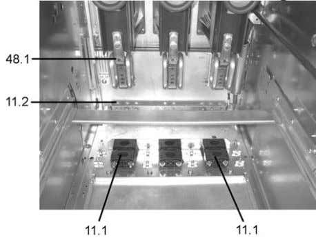 4.6 Dimensions of power cable connection of Uniswitch. Figure 4.7 Partial view of the cable connection
