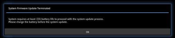 Transformer before firmware update. Tap OK to continue. 3. To start firmware update immediately, tap Install