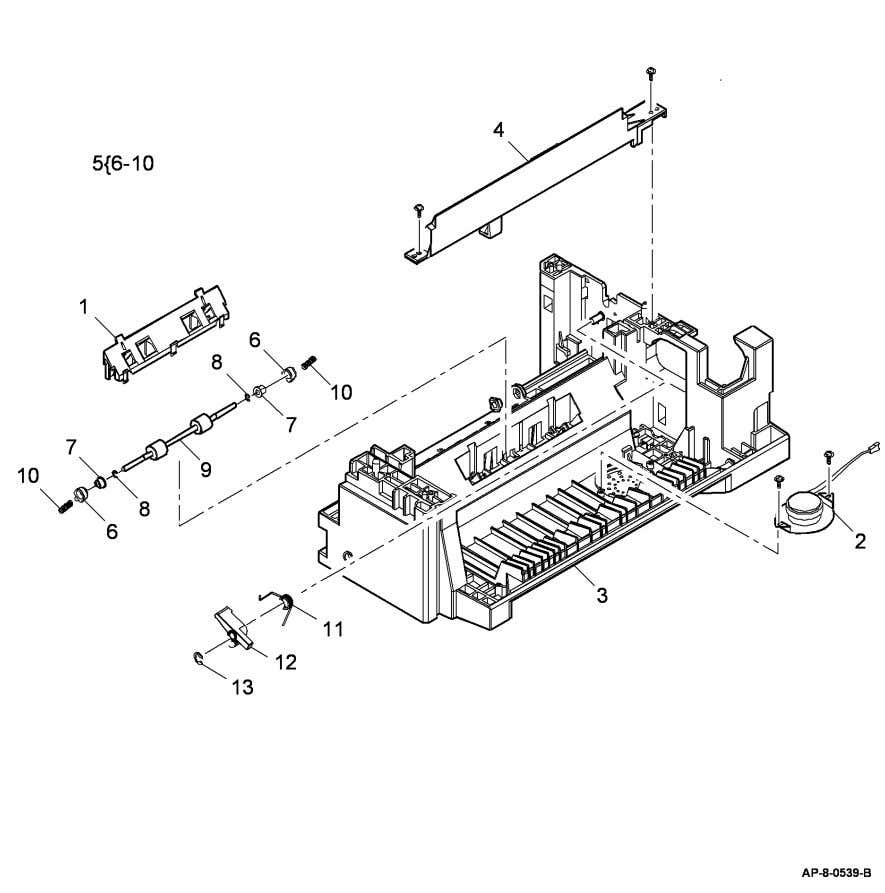 link arm (Not Spared) 13 – E-clip (Not Spared) Parts Lists PL 7.17 WorkCentre 4150/4250/4260 April