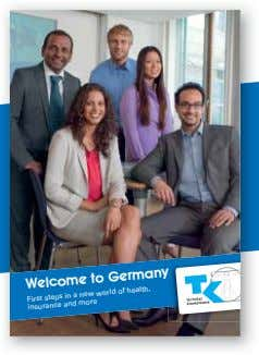 Welcome to Germany new world of health, First steps and insurance in a more