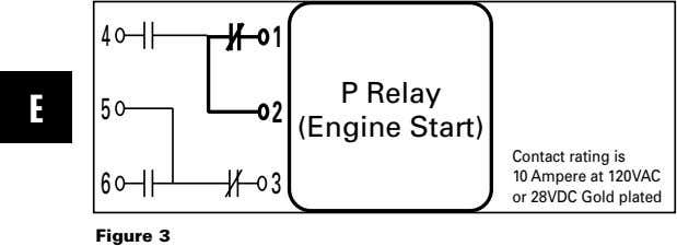 4 1 E 5 2 P Relay (Engine Start) 6 3 Contact rating is 10