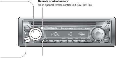 Remote control sensor for an optional remote control unit (CA-RC61EX). M M BAND CQ-C1321N APM